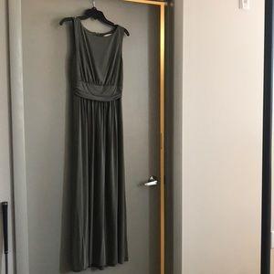 Olive green Loft maxi dress